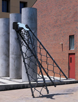 Toppling Ladder with Spilling Paint, 1986